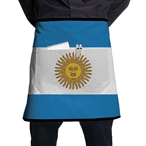 Argentina Flag Unisex Waist Tie Half Bistro Apron With Pockets