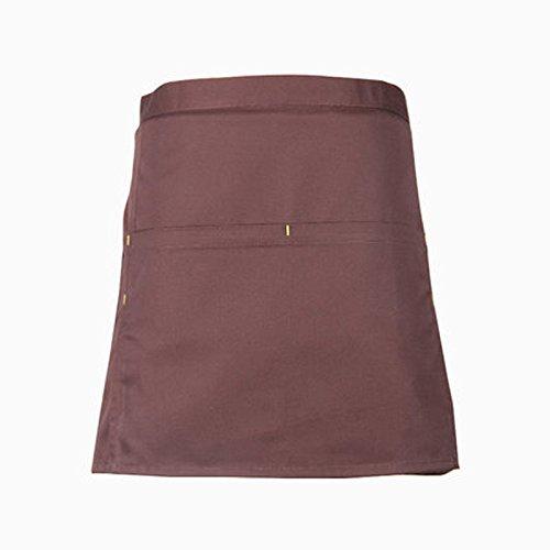 Lqchl Chef Half Apron Cotton For Men And Women Waist Aprons Short Fashion Black Cooking Kitchen ApronF