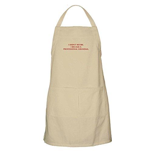 CafePress - I-Didnt-Retire-Grandma-OPT-DARK-RED - Kitchen Apron with Pockets Grilling Apron Baking Apron
