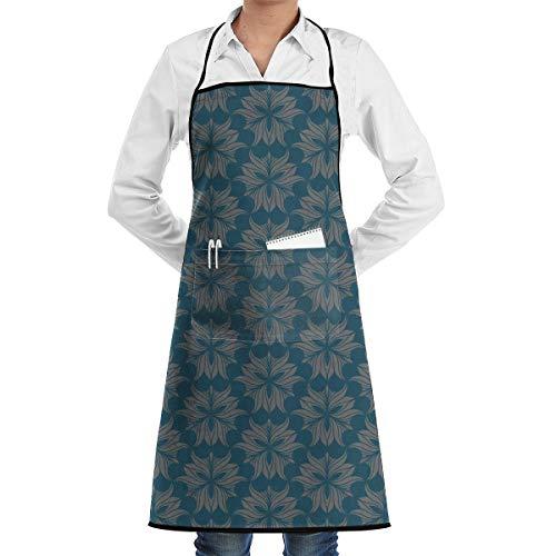 NRIEG Flower Mask Pattern Faction Unisex Kitchen Cooking Garden Apron£¬Convenient Adjustable Sewing Pocket Waterproof Chef Aprons