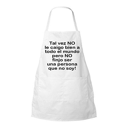 Tal Vez No Le Caigo Bien a Todo El Mundo Pero No Inspirational personalized BBQ Apron white