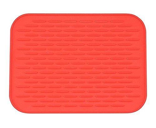 Silicone Trivet Mat Pot Holder Hot Pad Multi-purpose Mat 8x6 Red