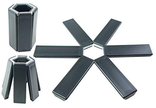 COJOY Silicone Expandable Trivet Sef of 3 Black