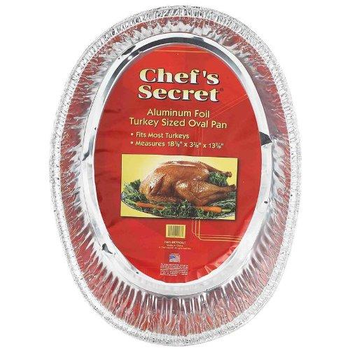 Chefs Secret Aluminum Foil Turkey Sized Oval Pan