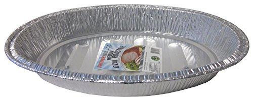 Durable Packaging Medium Oval Aluminum Roasting Pan 16-12 x 11-12 x 2-12 Pack of 12