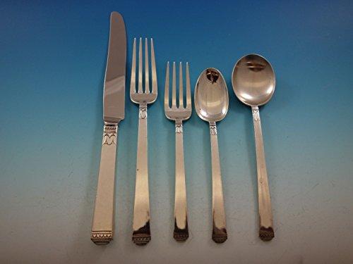 Regency by Lunt Sterling Silver Flatware Set Service 33 pieces
