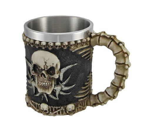 1 X Gothic Tribal Skull Tankard Coffee Mug Cup Creepy