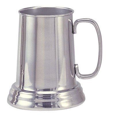 Bright Aluminum Tankard Beer Mug Clear Bottom