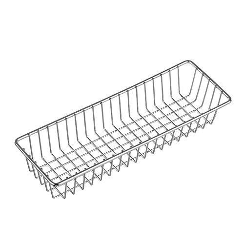 MONOKIT Cutlery Organizer Tray Utensil Holder Narrow Stackable Use in Drawers on Countertops Kitchen Cabinet Rustprooft