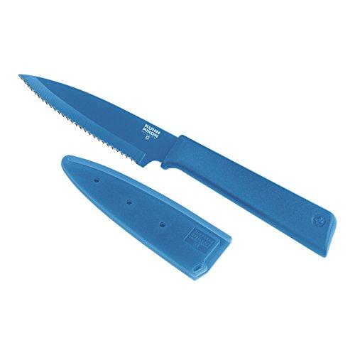 Kuhn Rikon Colori Serrated Bulk Paring Knife Blue