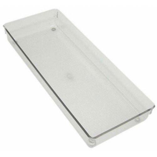 InterDesign Linus Kitchen Drawer Organizer for Silverware Spatulas Gadgets - 6 x 15 x 2 Clear
