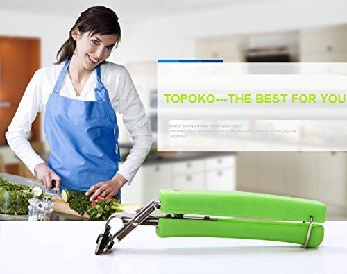 Topoko Kitchen Stainless Steel Exquisite Bowl Pot Pan Gripper Clip Hot Dish Plate Bowl Clip Retriever TongsRandom color-2 PCS