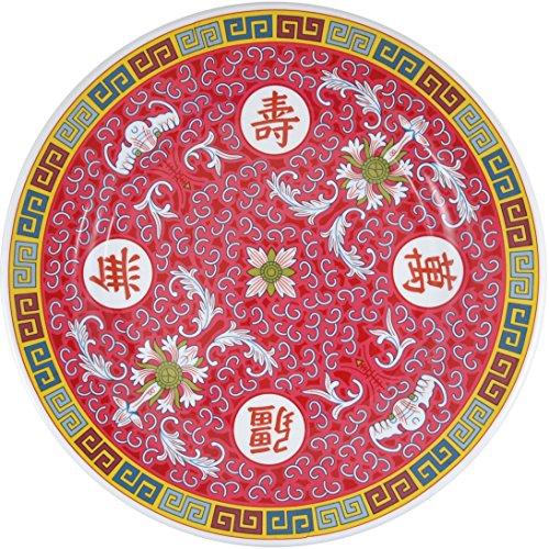 Longevity Asian Red Big Melamine Serving Platter