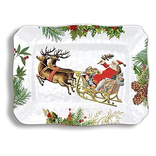 Michel Design Works SWPL274 Melamine Serving Platter Christmas Joy
