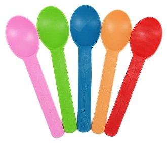Compostable Heavy Weight Yogurt Spoons Rainbow - 1000pcsCase