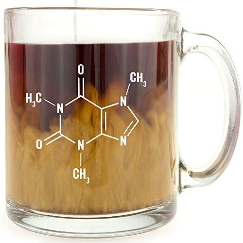 Caffeine Molecule - Glass Coffee Mug