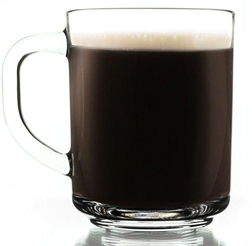 Everyday Clear Glass Coffee Mug 825 Ounce - Set of 2