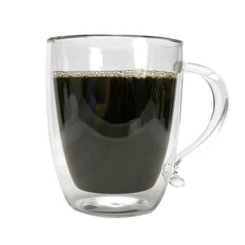Primula Double Wall Borocilicate 16-Ounce Glass Coffee Mug