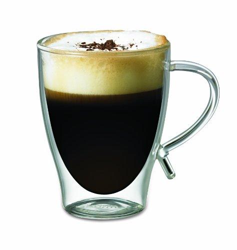 Starfrit Double Wall Glass Coffee mug 12-Ounce