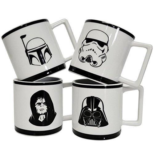 Star Wars Espresso Cups - Set of Four Mugs - Darth Vader The Emperor Boba Fett Stormtrooper