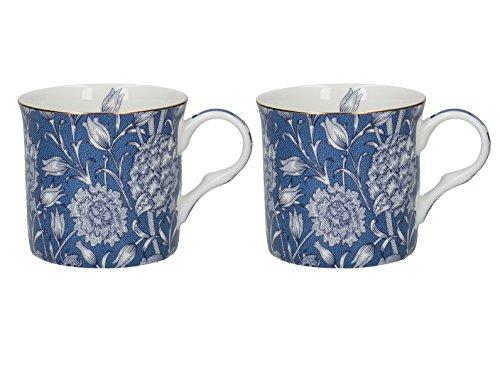 Set of 2 V&A William Morris Wild Tulip Fine Bone China Mugs