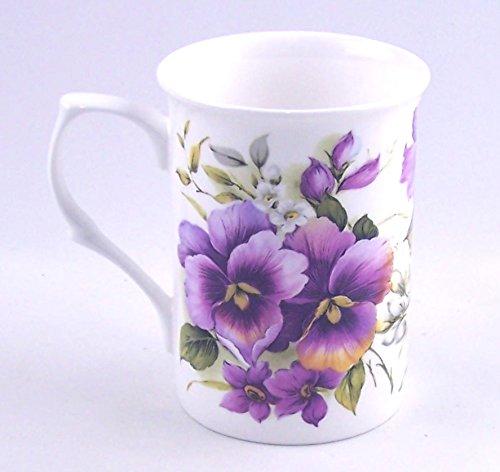 Adderley of England - Fine English Bone China Mug - Pansy Wrap Chintz