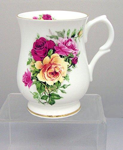 English Fine Bone China - Summertime Roses Mug