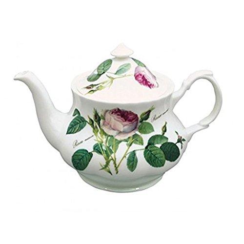 Redoute Rose English Bone China Teapot 8 Cup