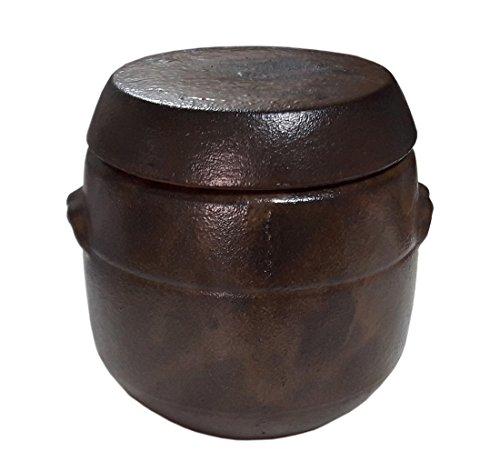 2874oz850cc Korean Traditional Earthenware Fermenting Jar Jangdok with Lid