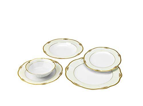 Joseph Seigh GPJULIA-20 20 Pcs Fine Porcelain Dinnerware Set Ceramic Dining Table Setting Bone China Tableware for 4 Set of 20