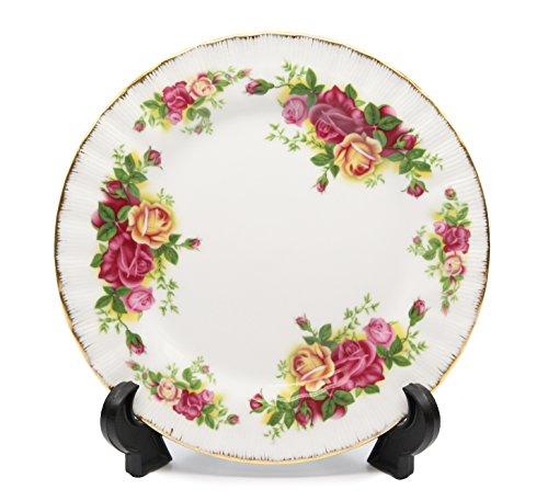 Royalty Porcelain Set of 6 Dessert Plates Vintage Floral Pattern 24K Gold Bone China Tableware 65 Vintage Floral