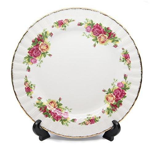 Royalty Porcelain Set of 6 Salad Plates Vintage Floral Pattern 24K Gold Bone China Tableware 75 Vintage Floral