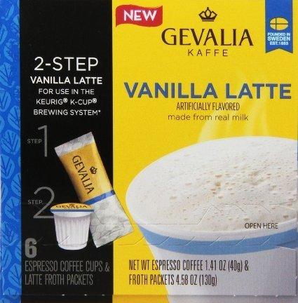 Gevalia Vanilla Latte Cup 6 Ct Pack of 6