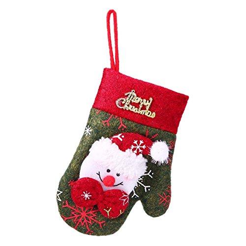Whitelotous Christmas Cutlery Holder Glove Knife Fork Tableware Bag Xmas DecorSnowman