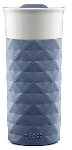 Ello Ogden BPA-Free Ceramic Travel Mug with Lid Evening Blue 16 oz