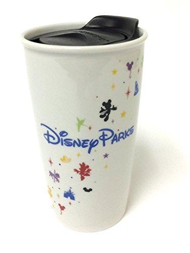 Starbucks Coffee Double Wall Ceramic Travel Mug - Disney Parks Edition