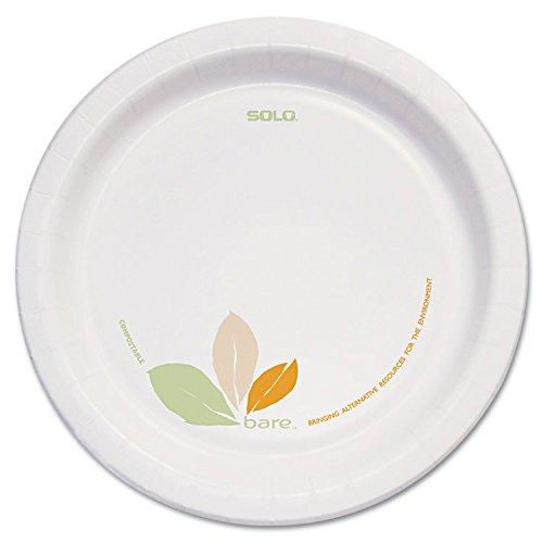 Bare Paper Dinnerware 8 12plate Greentan 250carton By SOLO Cup Company