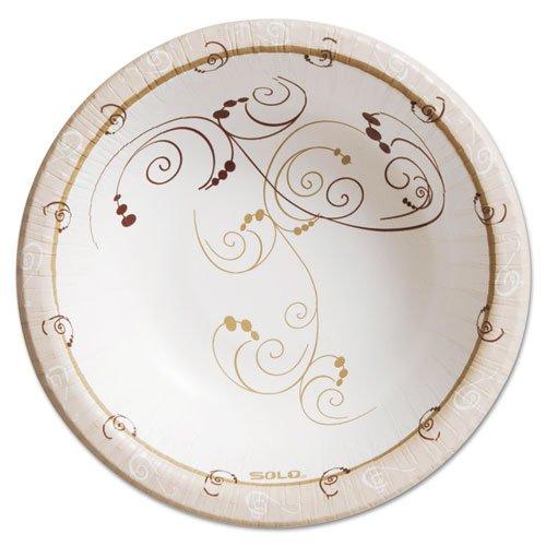 SOLO Cup Company - Symphony Paper Dinnerware Heavyweight Bowl 12oz Tan 125Pack HB12-J8001PK DMi PK