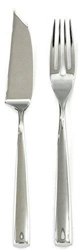 Mepra Arte 24-Piece Fish Serving Set Metallic Finish Dishwasher Safe Cutlery