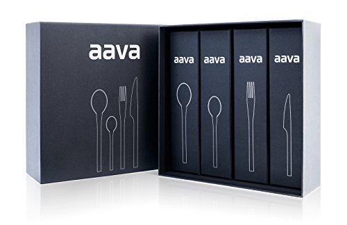 Aava - 24-Piece Flatware Set Made From Finnish Steel