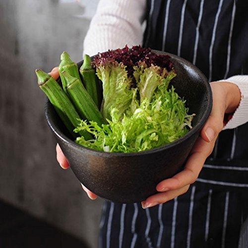 Creative Japanese Style Ceramic Bevel Salad Bowl Household Ramen Deep Soup Bowl