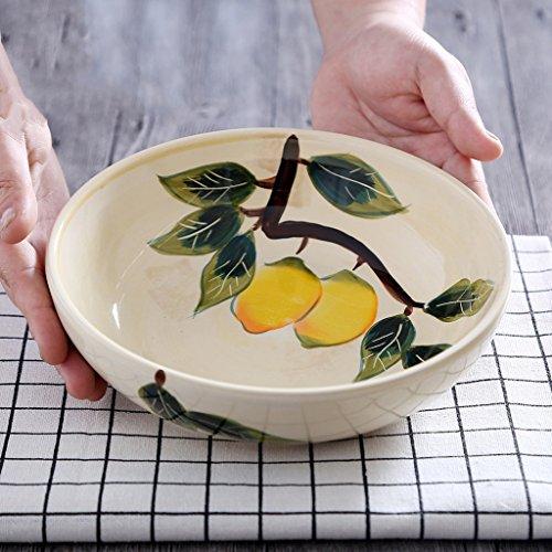 Japanese-style Creative Hand Painted Ceramics Bowl Personality Big Ramen Bowl 78 Inch Deep Soup Bowl