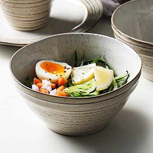 Japanese-style Retro Ceramic Bowl Ramen Deep Soup Bowl Individuality Salad Bowl Creative Tableware
