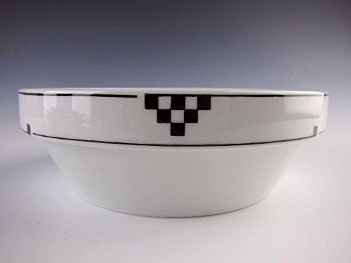 Studio Nova China HERALD SQUARE - Black Coupe Soup Bowls EXCELLENT