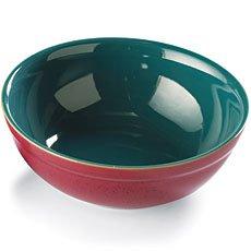 Denby Harlequin Medium Pasta  Salad Bowl Red  Green