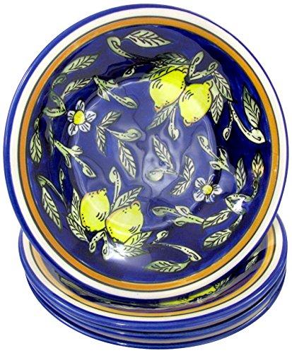Le Souk Ceramique CQ39 Stoneware PastaSalad Bowls Set of 4 Citronique