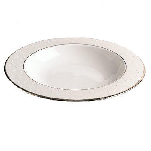 Lenox Continental Dining Platinum Bone China Pasta Bowl Rim Soup