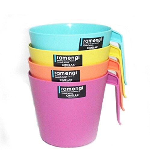 Cimelax Plastic Noodle Soup Bowl Cup Type 4 SET