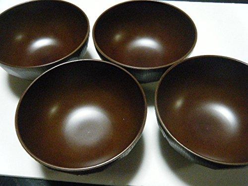 Japanese miso soup bowls mug woodgraining NUKUMORI 4set Made in JAPANDishwasher OK