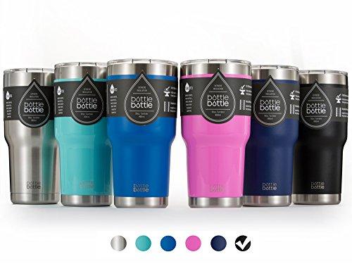 BottleBottle 30 oz Insulated Tumbler Cup Stainless Steel Travel Coffee Mug Night Black